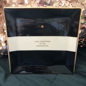 """Kate Spade """"Leave Something To Imagination"""" tray"""